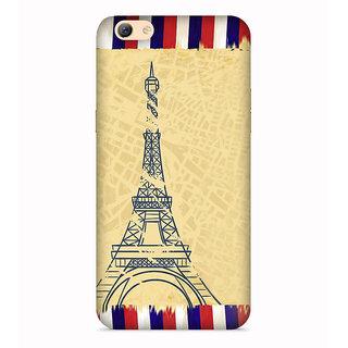 PrintVisa Eiffel Tower Art Symbol Paris Designer Printed Hard Back Case For Vivo Y55 - Multicolor