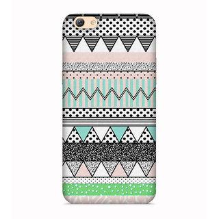 PrintVisa Triangles Pyramid Colorful Patterns Designer Printed Hard Back Case For Vivo Y55 - Multicolor