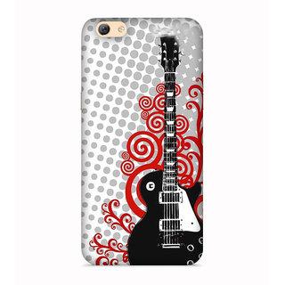 PrintVisa Guitar Romantic Music Cool Boy Designer Printed Hard Back Case For Vivo Y55 - Multicolor