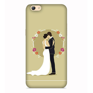PrintVisa Love Couple Umbrella Designer Printed Hard Back Case For Vivo Y55s - Multicolor