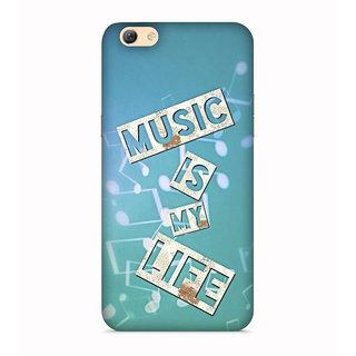 PrintVisa Music Is Life Sangit Zindagi Blue Mobile Case Cover Designer Printed Hard Back Case For Vivo Y55s - Multicolor