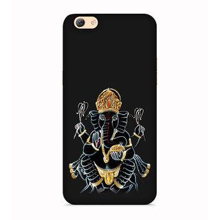 Printvisa Gold Ganapati Ganesh Ganesha Designer Printed Hard Back Case For