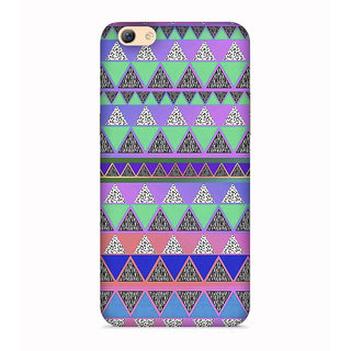 PrintVisa Snakes Colorful Design Pattern Triangles Designer Printed Hard Back Case For Vivo Y71 - Multicolor