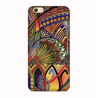 PrintVisa Multicolor Ethnic Design Designer Printed Hard Back Case For Vivo X5 Pro - Multicolor