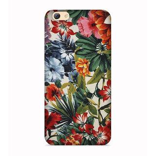 PrintVisa Flowers Designs Contrast Patterns Beautiful Designer Printed Hard Back Case For Vivo Y71 - Multicolor