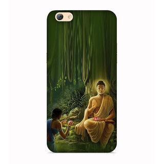 PrintVisa Buddha Buddhism Designer Printed Hard Back Case For Redmi Y1 Lite - Multicolor