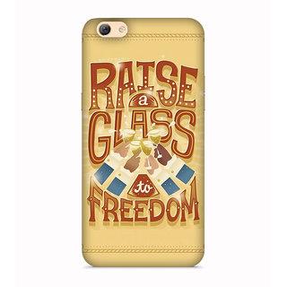 PrintVisa Raise A Glass To Freedom Alcohol Mobile Case Designer Printed Hard Back Case For Vivo Y69 - Multicolor