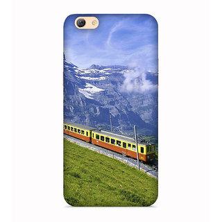 PrintVisa Train Rail Railway Snow Mountain Engine Designer Printed Hard Back Case For Vivo Y71 - Multicolor