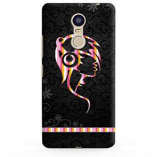 PrintVisa Girl Listening Music Cool Attitude Black Swag Mobile Designer Printed Hard Back Case For Redmi Note 5 - Multicolor