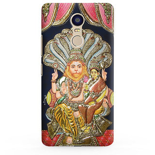 PrintVisa Lord Narsinmha Hindu Designer Printed Hard Back Case For Redmi Note 5 - Multicolor