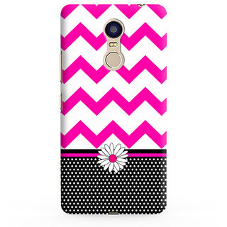 PrintVisa Pink Gulabi Sundar Cool Patterns Designer Printed Hard Back Case For Redmi Note 5 - Multicolor