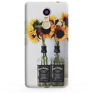PrintVisa Flowers Floral For a Bottle Jack Danniels Leaves Designer Printed Hard Back Case For Redmi Note 5 - Multicolor