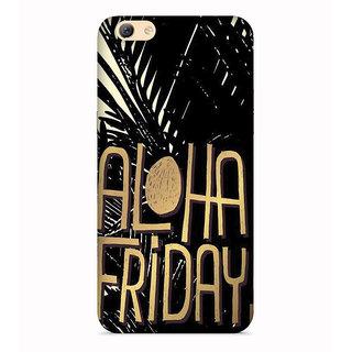 PrintVisa Aloha Friday Weekend Designer Printed Hard Back Case For Redmi Y1 Lite - Multicolor