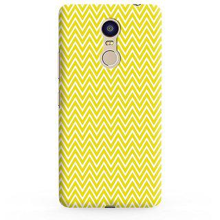 PrintVisa Yellow Zigzag Pattern Designer Printed Hard Back Case For Redmi Note 5 - Multicolor