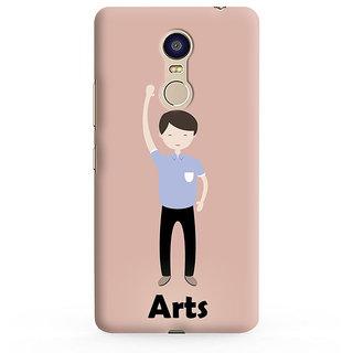 PrintVisa Illustrations Arts Symbol LightPink Designer Printed Hard Back Case For Redmi Note 4 - Multicolor