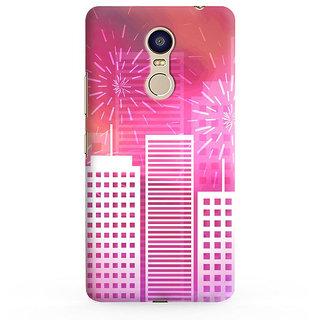 PrintVisa Diwali Dipawali Fireworks Crackers City Designer Printed Hard Back Case For Redmi Note 4 - Multicolor