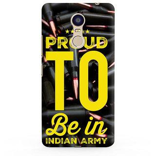 PrintVisa Proud To Be In Indian Army Sena War Indian Pride Mobile Case Designer Printed Hard Back Case For Redmi Note 5 - Multicolor