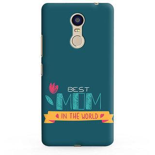 PrintVisa Blue Mother Quote Designer Printed Hard Back Case For Redmi Note 4 - Multicolor