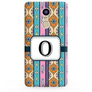 PrintVisa Floral Pattern Design Alphabet O Designer Printed Hard Back Case For Redmi Note 4 - Multicolor