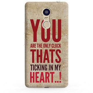 PrintVisa You Are Only Clack Ticking My Heart Mobile Cover Designer Printed Hard Back Case For Redmi Note 5 - Multicolor