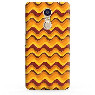 PrintVisa Yellow Brown Flow Pattern Designer Printed Hard Back Case For Redmi 5 - Multicolor