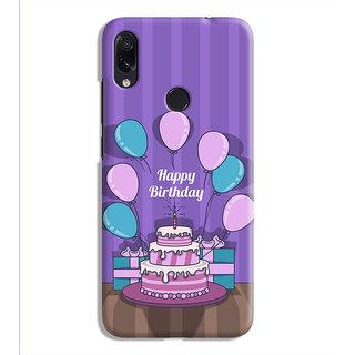 PrintVisa Birthday Quote Party Designer Printed Hard Back Case For Redmi Note 7 - Multicolor