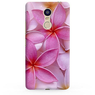 PrintVisa Flowers Floral Champa Pink Love Plumeria Designer Printed Hard Back Case For Redmi 5 - Multicolor