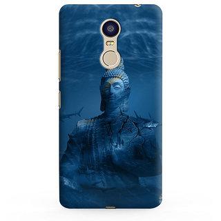 PrintVisa Buddha Buddhism Designer Printed Hard Back Case For Redmi 5 - Multicolor