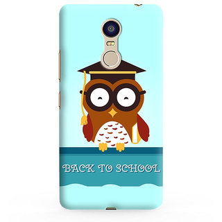 PrintVisa Owl Art Symbol Knowledge Degree Designer Printed Hard Back Case For Redmi Note 4 - Multicolor