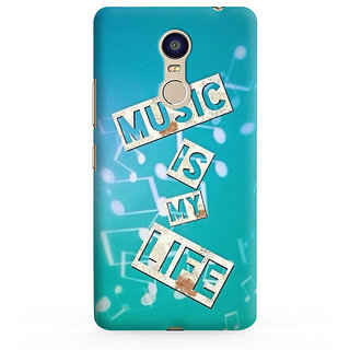 PrintVisa Music Is Life Sangit Zindagi Blue Mobile Case Cover Designer Printed Hard Back Case For Redmi 5 - Multicolor