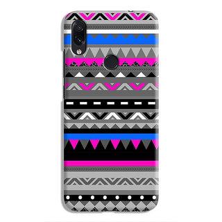 PrintVisa Snakes Colorful Design Pattern Triangles Designer Printed Hard Back Case For Redmi Note 7 - Multicolor