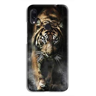 PrintVisa Tiger Bagh Walking Brave King Designer Printed Hard Back Case For Redmi Note 7 - Multicolor