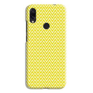 PrintVisa Yellow Zigzag Pattern Designer Printed Hard Back Case For Asus Zenfone Max Pro M1 - Multicolor
