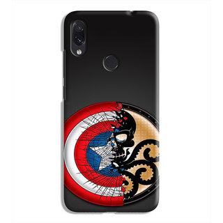 PrintVisa Hail Hydra Captain America Designer Printed Hard Back Case Cover For Redmi Note 7S - Multicolor