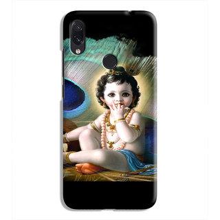 PrintVisa Naughty Baal Krishna Eating Butter Designer Printed Hard Back Case Cover For Redmi Note 7S - Multicolor