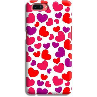 PrintVisa Heart Red Love Lines Pattern Design Lovely Designer Printed Hard Back Case For Realme C2 - Multicolor