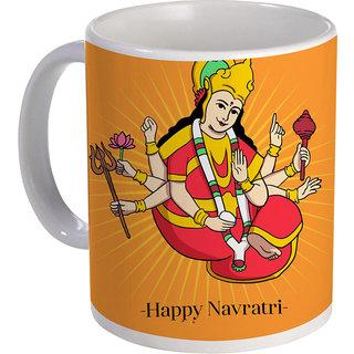 best happy navratri with mata design in multi color on