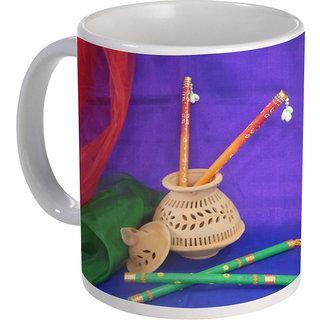 best dandiya design with multi color background on