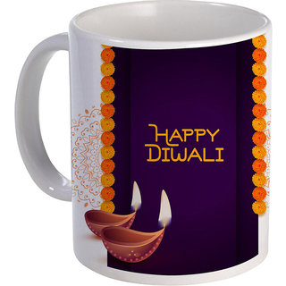 best stylish happy diwali text with diya on