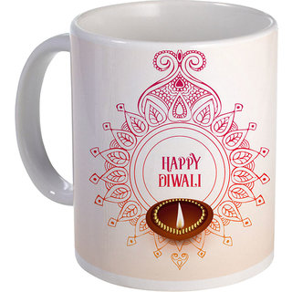 best creative happy-diwali background design with mandala and diya on