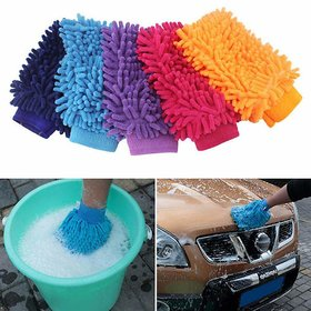 Wellbeing Within Premium Microfiber Cleaning Dusting Glove For Home Office Kitchen Car Etc.
