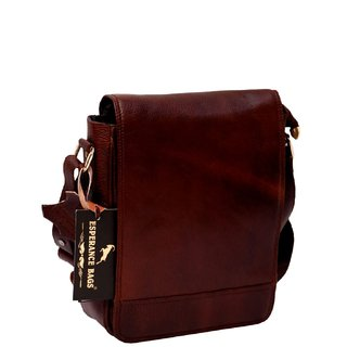 ESPERANCE BAGS Brown Faux Leather Sling Bag