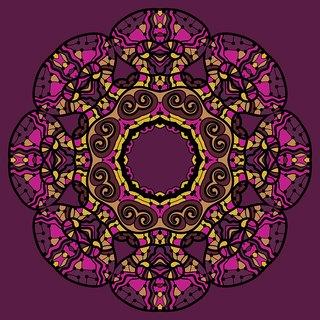 mandala pink design Sticker Poster|Vastusastra yantra poster|Religious Poster|size:12x18 inch