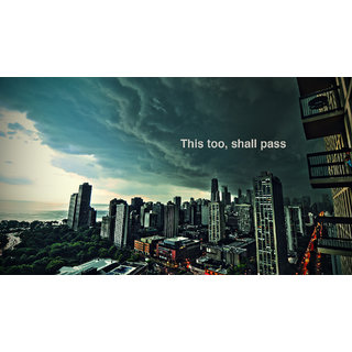 this too shall pass Sticker Poster|size:12x18 inch |Sticker Paper Poster, 12x18 Inch