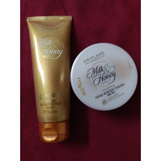 Honey milk and honey scrub  cream combo