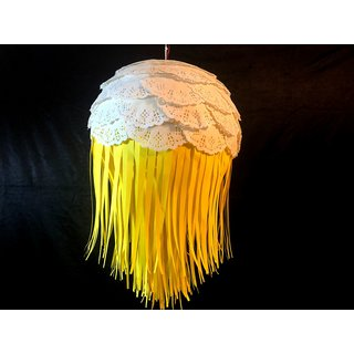 Eco Friendly Abstract Fall Diwali Lantern made of lightweight paper YELLOW