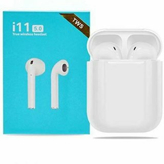 i11 TWS Twins Wireless Bluetooth Headset with Mic  In the Ear   White