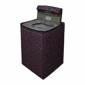 CASA-NEST Washing Machine Cover for Fully Automatic Top Loading Haier 5.8 KG, Brown