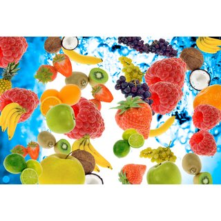 fruits  Sticker Poster||Food Posters|size:12x18 inch |Sticker Paper Poster, 12x18 Inch