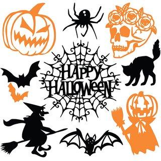 black happy halloween Sticker Poster|Pumpkin poster|Haloween Poster|size:12x18 inch |Sticker Paper Poster, 12x18 Inch